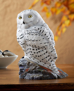 Wildlife Sculpture | Snowy Owl Sculpture Figurine Snow Owl by Phil Galatas