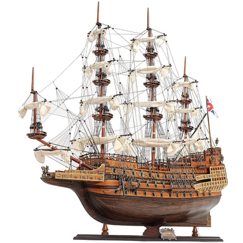 Old Modern Handicrafts Wooden Model Ship HMS Sovereign of The Seas