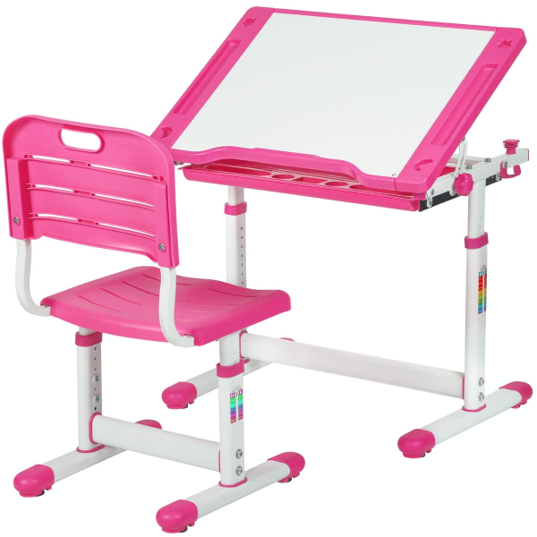 Kids Desk Children Writing Student Desk Drafting Table Study Table and Chair