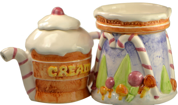 Christmas Ginger Bread Junction Sugar and Creamer Set