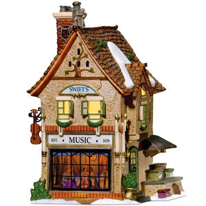 Christmas Village Department 56 Dickens' Village Swifts Stringed Instruments Lit House