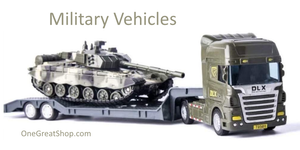 Toys | Military Vehicles and Army Flatbed Truck with Tank