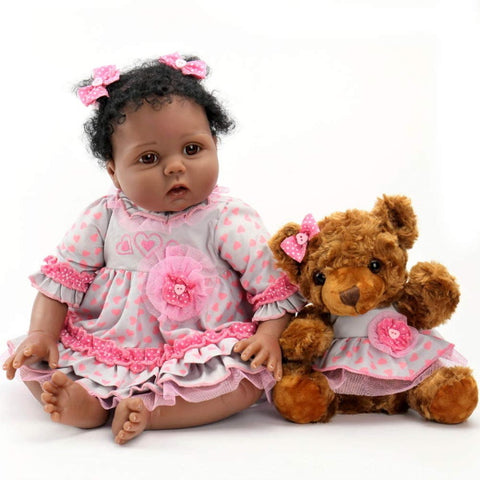 Dolls | Lifelike Reborn Baby Dolls with Soft Body African American