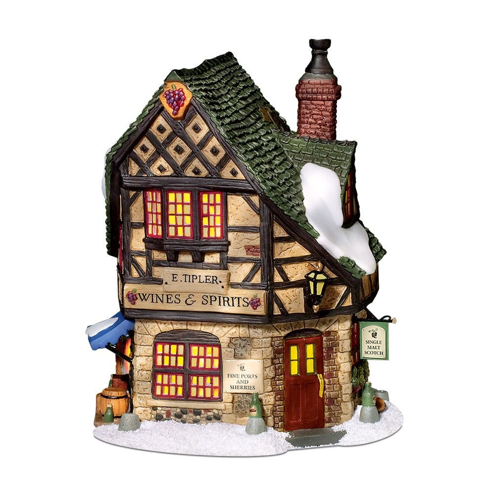 Department 56 Dickens' Christmas Village E Tipler Agent Wine Spirits Building