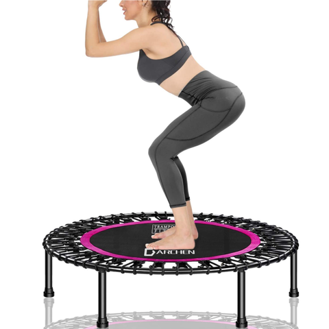 Trampoline for Adults, Indoor Small Rebounder Exercise Trampoline for Workout