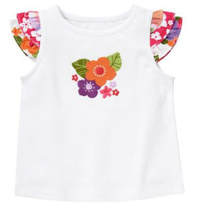 Baby Clothes | Gymboree Tropical Flower Shirt For Baby Girl 3-6 Months