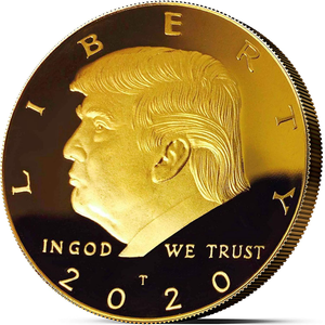 Donald Trump Coin 2020 - Gold Plated Collectible Coin, Protective Case Included