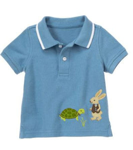 Baby Clothes | Gymboree Turtle and Rabbit Polo Shirt For Baby Boy