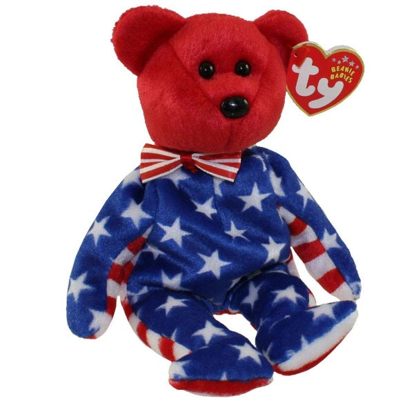 Plush | Ty Beanie Babies Red Liberty Bear