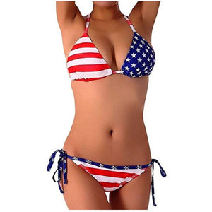 Swimwear | Womens Patriotic USA American Flag Bathing Suit Swimsuits