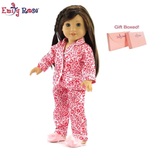 American Girl Valentine's Day Pajamas Outfit for 18 Inch Doll