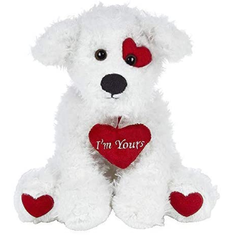 Plush Stuff | Bearington Smootchie Poochie Valentine Plush Animal Puppy Dog with Heart