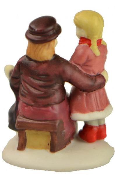 Christmas Village Accessories People Woman and Child