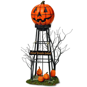 Pumpkin Water Tower Figurine