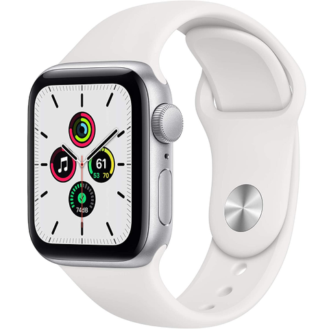 New Apple Watch SE (GPS, 40mm) Silver Aluminum Case with White Sport Band