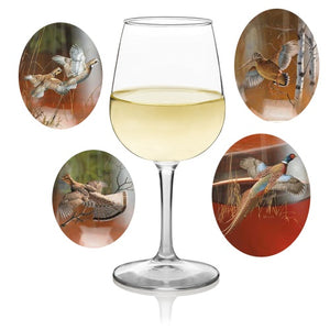 Home Decor | Game Birds 10 oz Wine Glasses
