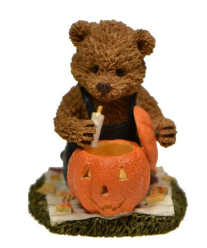 Figurines | Windsor Bear Scott with Pumpkin Halloween Collectibles