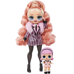 L.O.L. Surprise! O.M.G. Winter Chill Big Wig Fashion Doll & Madame Queen Doll with 25 Surprises