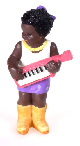 Collectibles | Black Americana Woman Playing Musical Instrument Figurine