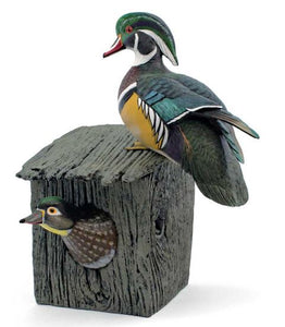 Wild Life Gallery | Wood Duck Pair Sculpture  By Sam Nottleman