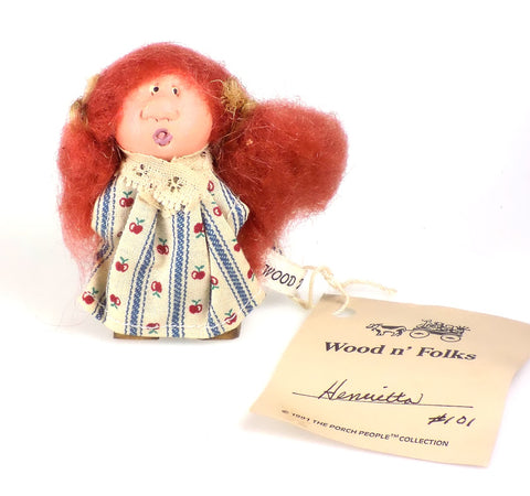 Collectibles | Wood Folk Art Figures Henrietta