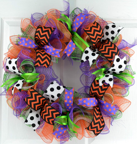 Fall or Halloween Wreaths for Front Door