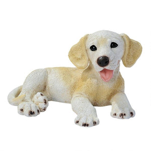 Figurines | Yellow Labrador Puppy Dog Statue