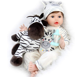 Baby Dolls 22 Inch Real Looking Weighted Reborn Boy Doll with Zebra