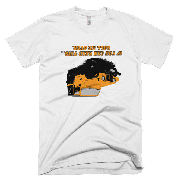 Jeep - Roll me over! Orange Short sleeve men's t-shirt