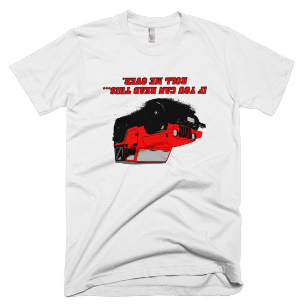"Jeep ""Roll Me over"" - Red Short sleeve men's t-shirt"