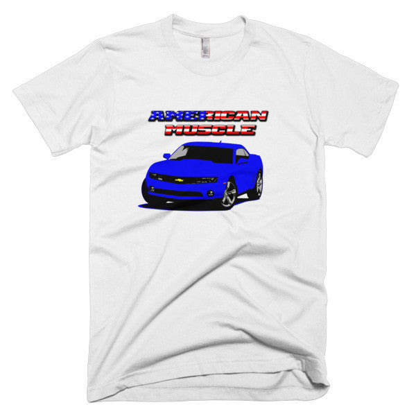 Chevy Camaro (Blue) Short sleeve men's t-shirt