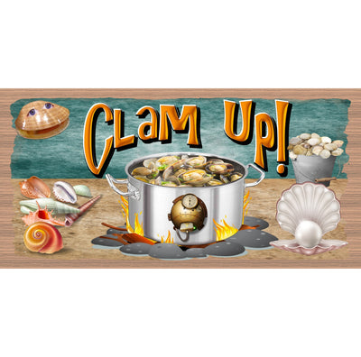 Clam Bake Sign -Cajun Clam Bake - GS 233- Clam Up - Clam Sign