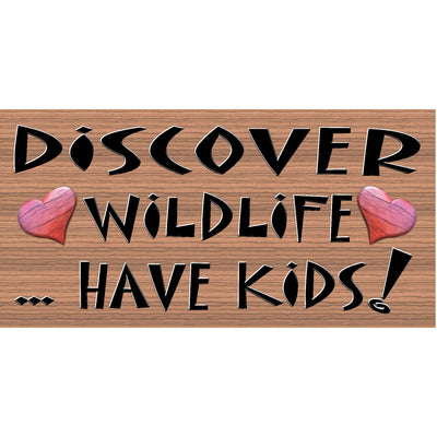 Children Wood Signs -  Discover Wildlife -GS 039