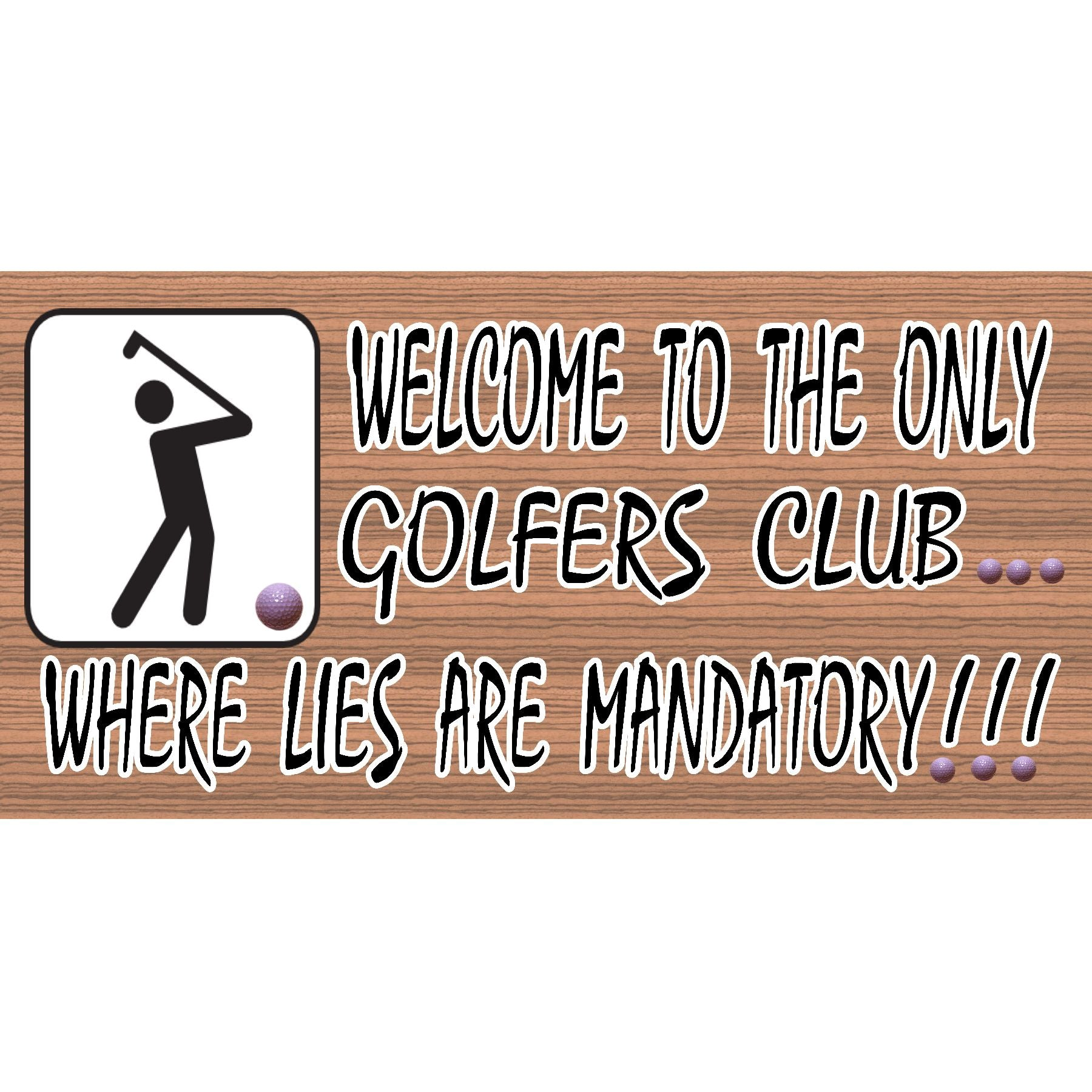 Golf Wood Signs - Golfer Fore GS 066