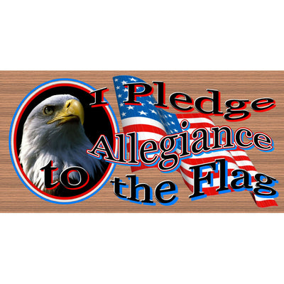 Patriotic Wood Signs - Patriotic Plaques - Pledge Allegiance-GS 094