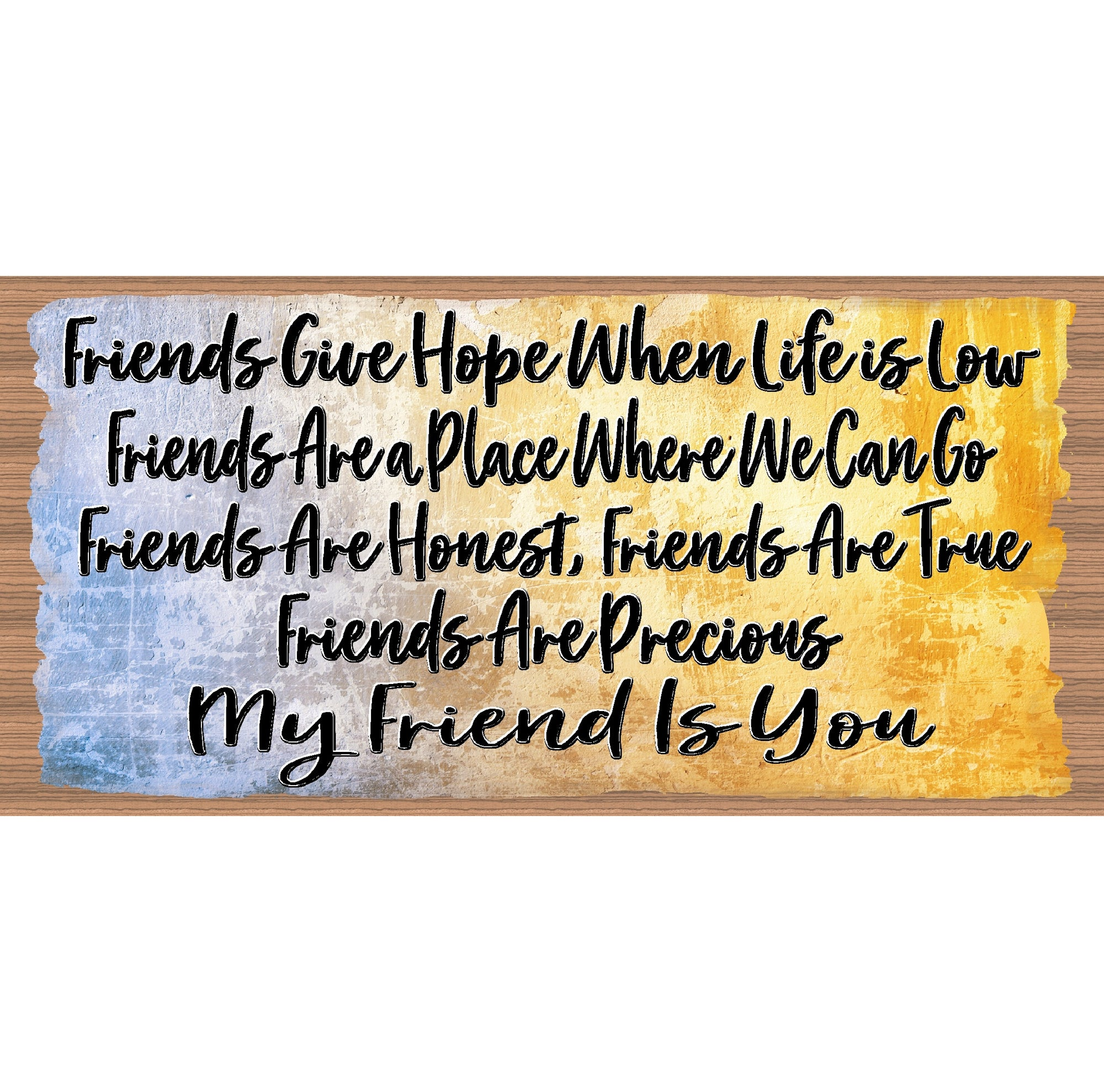 Friendship Wood Signs -Friend- GS 1012XX- Friendship Plaque