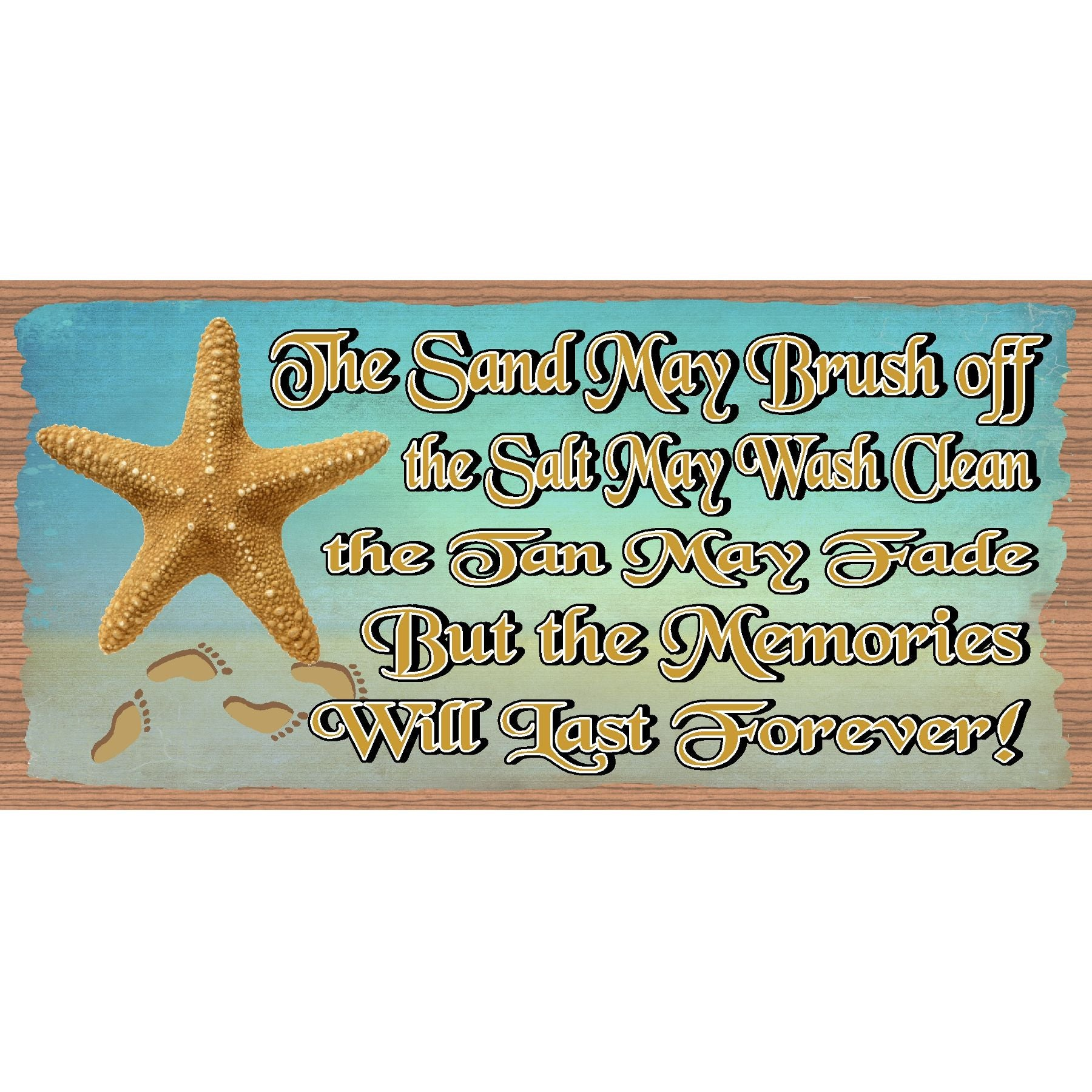 Beach Wood Signs  Beach Memories- GS 1054 -Tropical Sign