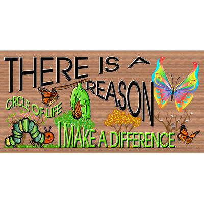 Butterfly Wood Signs-I Make a Difference -GS 107