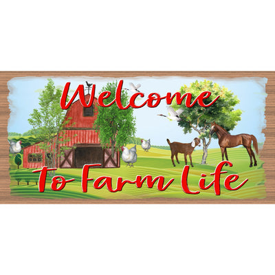 Farm Life Wood Signs - Farm Plaque - Country Sign - GS 1096