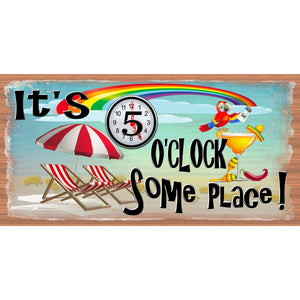 5 O'Clock Someplace Wood Signs - GS 1234