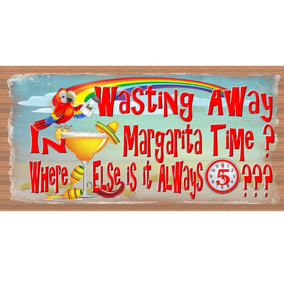 Margarita Wood Signs -Wasting Away in Margarita Time GS 1320 -Tropical Sign