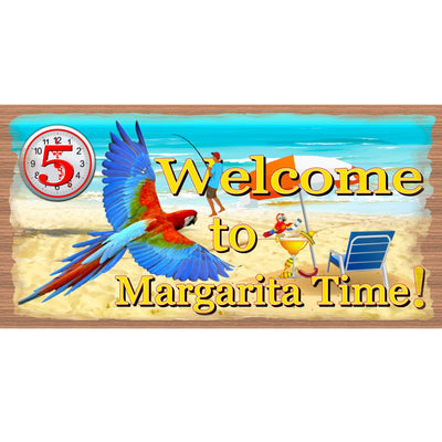 Margarita Wood Signs -Welcome to Margarita Time- GS 1384 tropical Sign