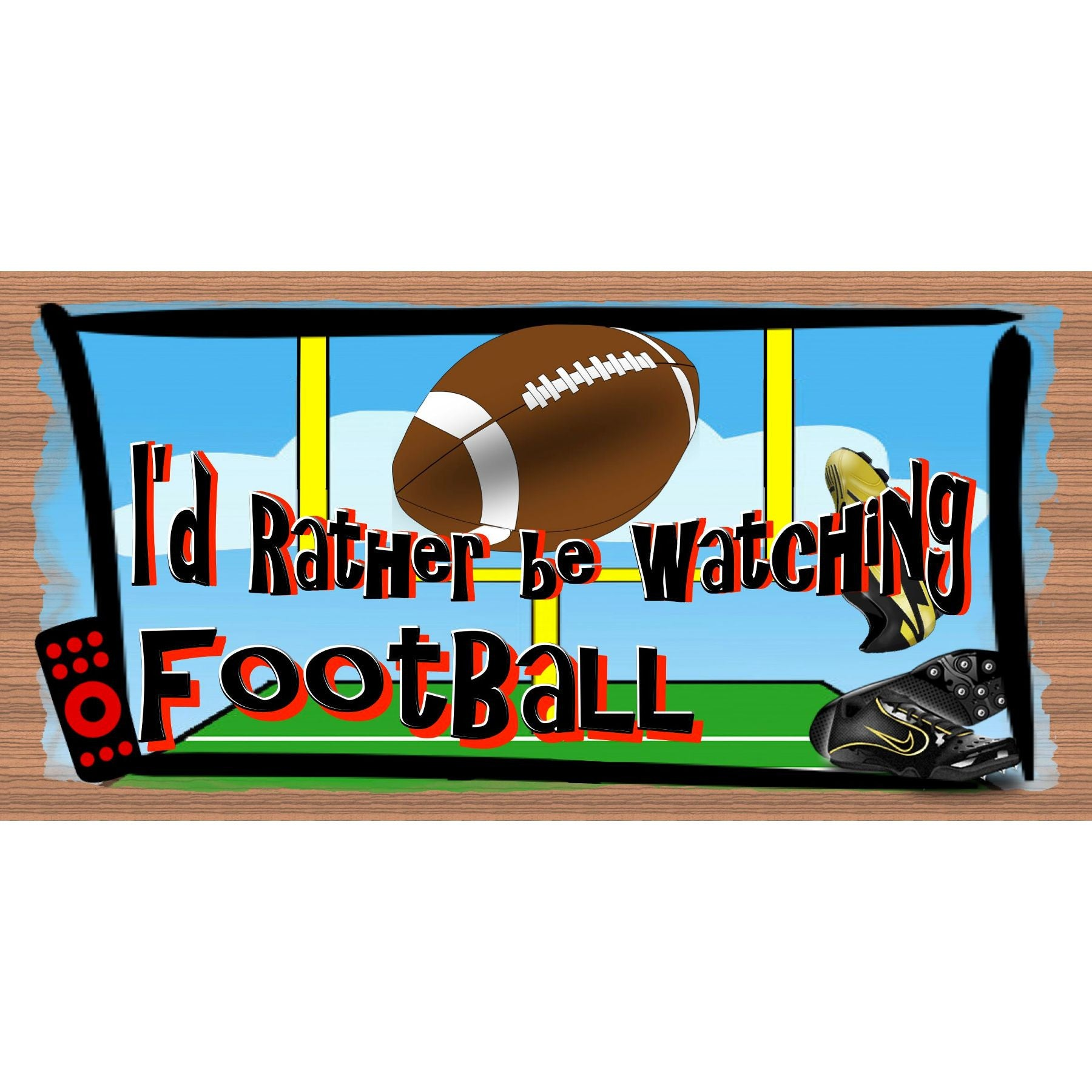 Football Wood Sign - Football Plaque - GS 145
