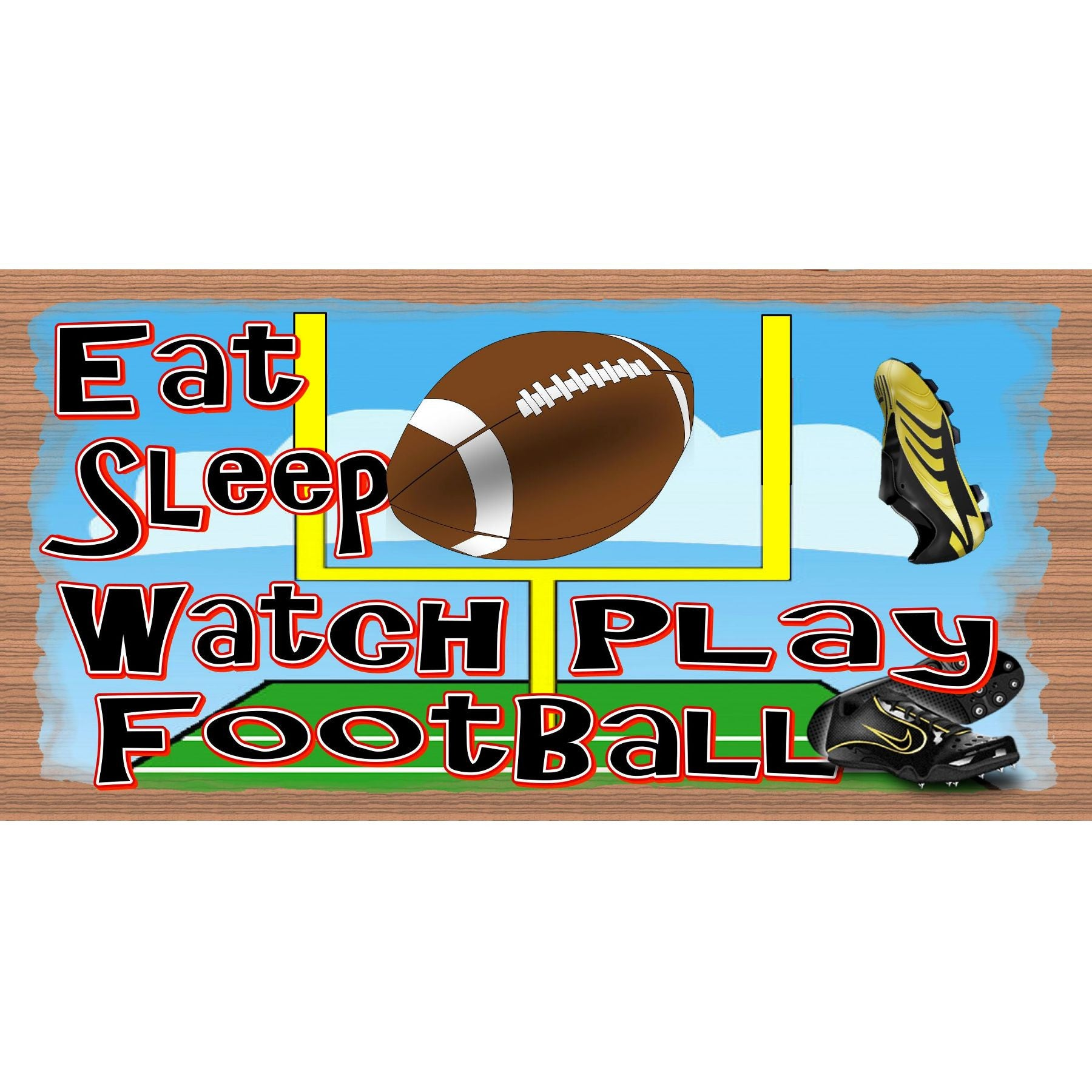 Football Wood Sign - Football Plaque - GS 149