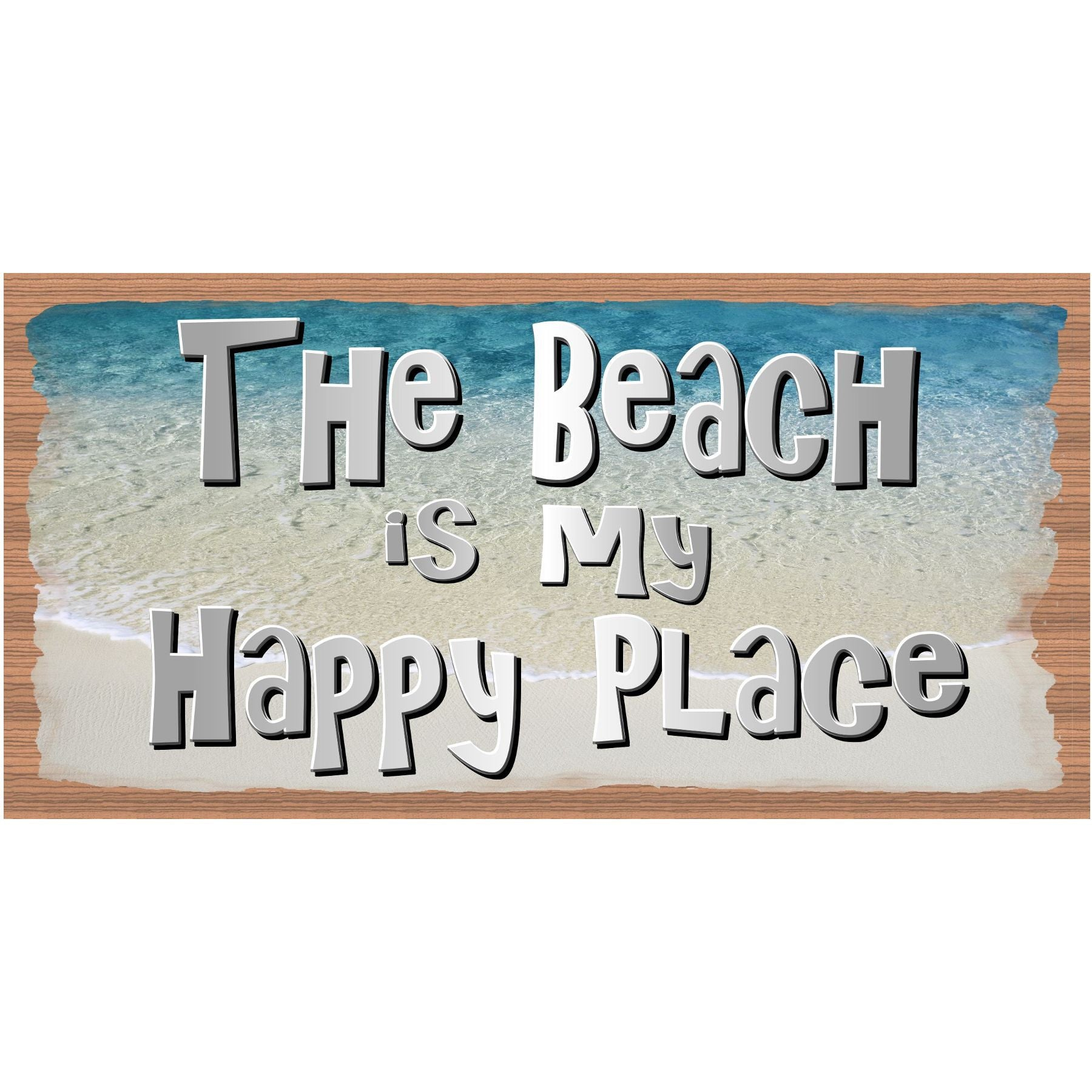 Beach Wood Signs -The Beach is My Happy Place plaque - GS 1504 -Tropical Sign - Beach decor