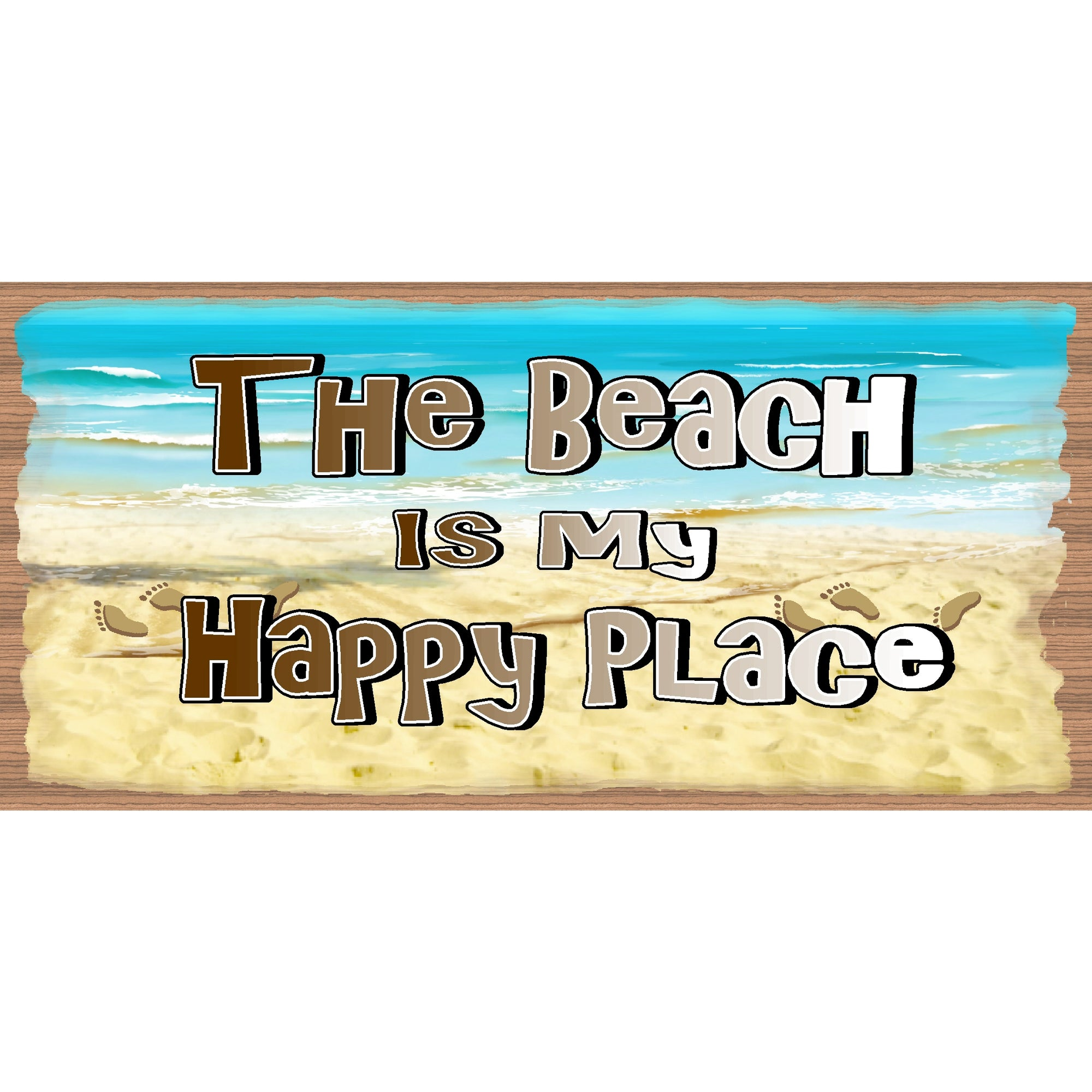 Beach Wood Signs -The Beach is My Happy Place plaque - GS 1504X -Tropical Sign - Beach decor
