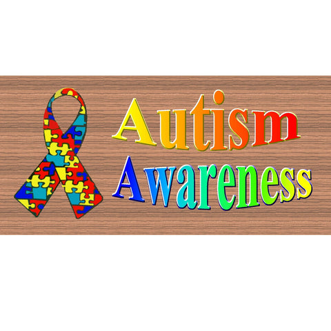 Autism Wood Signs -  Autism Awareness Plaque -GS 1512