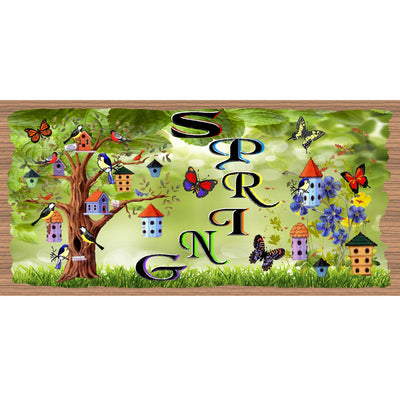 Spring Wood Signs -GS 1596 - Spring Plaque