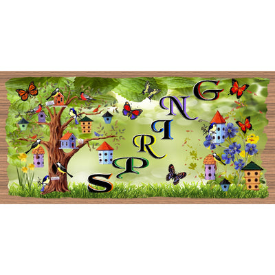 Spring Wood Signs - GS 1597 -Spring Plaque