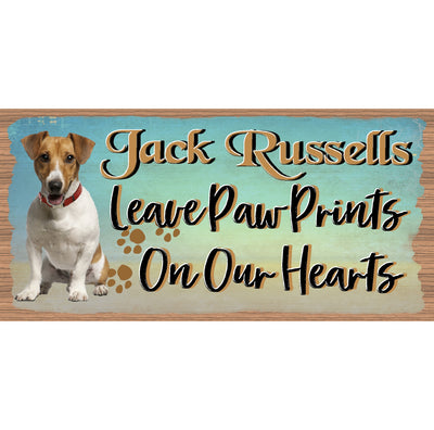 Jack Russell Jack Russell Wood Signs - GS 1765 -Jack Rusell Plaque Dog Sign